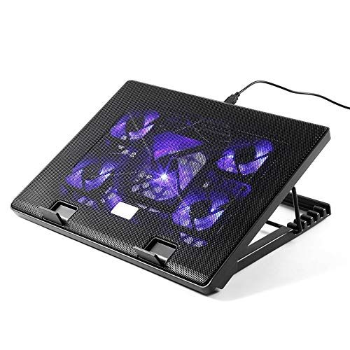 E I H Notebook Cooling Pad Leshp S500 5 Big Fan 2 Usb Laptop
