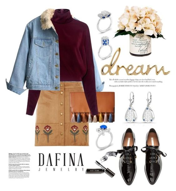 """""""DafinaJewerly.com: Dream"""" by hamaly ❤ liked on Polyvore featuring Dorothy Perkins, Rebecca Minkoff, McQ by Alexander McQueen, Bobbi Brown Cosmetics, love, FiRE, Creative Displays, outfit, ootd, jewerlry and dafinajewerly"""