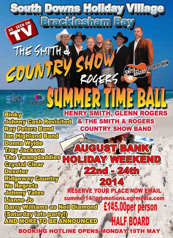 Country Music Weekend - August Bank Holiday 22nd - 24th 2104