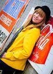 Elizabeth with Coke Sign - November 2011