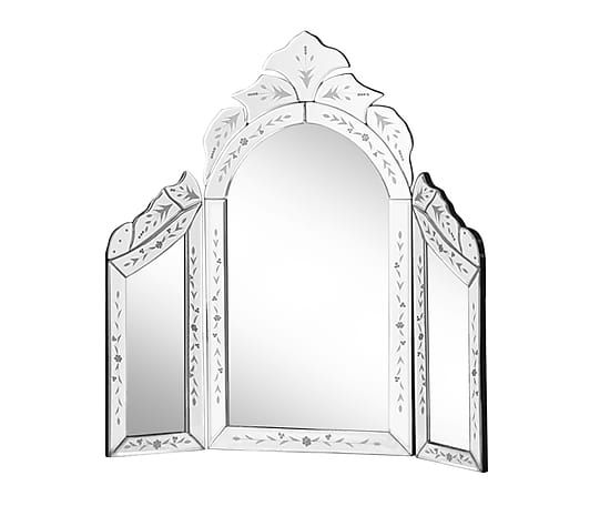 Verstellbarer Schmink-Spiegel Mabelle, H 60 cm