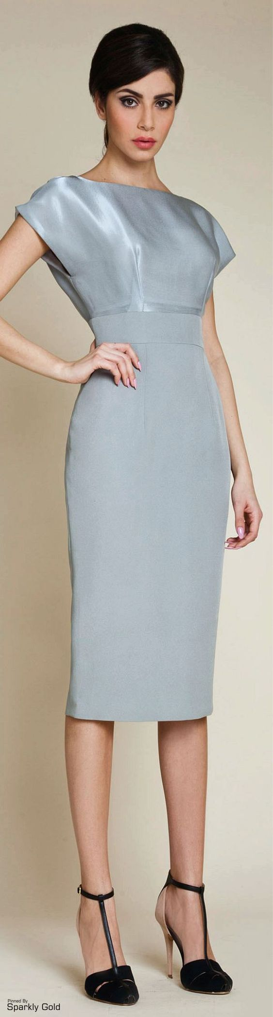 @roressclothes clothing ideas #women fashion gray silver dress