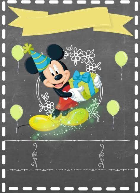 Pin De Yasna Ca En Cumple Mickey Invitaciones Mickey