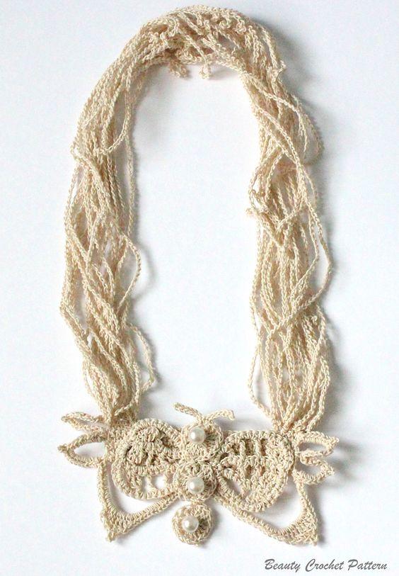 Butterfly Crochet Necklace