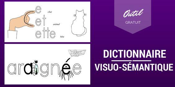 Voici un dictionnaire visuo-sémantique qui met en image les difficultés orthographiques des mots afin d'en retenir l'orthographe.