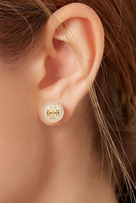 Crystal Stud Pearl Earring