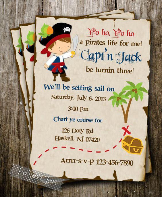 printable Pirate Map   Pirate Treasure Ship Map Invitation Birthday Party Boy digital ...