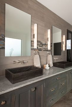 Wall tiles for shower/bath surround and vanity.