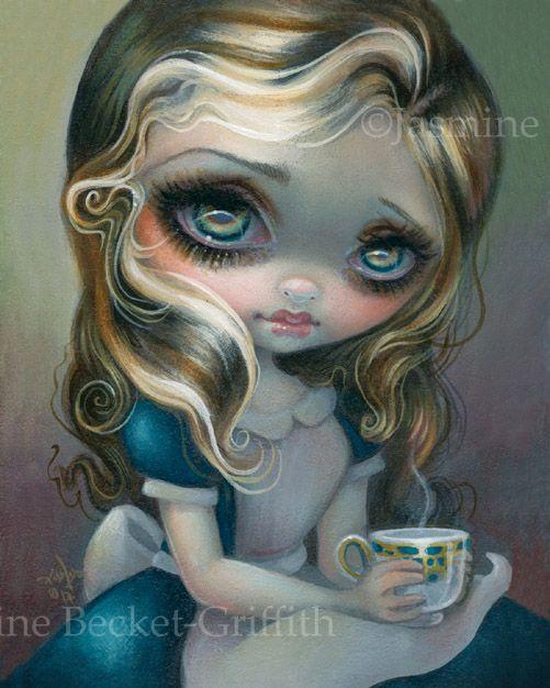Alice in Wonderland Sea fairy gothic art CANVAS PRINT