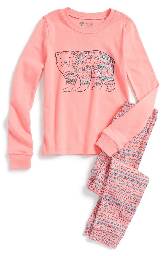 Fitted Two-Piece Pajamas (Toddler Girls, Little Girls & Big Girls ...