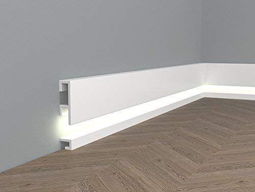 Topseller Mardom Decor Ql019 Ql021 Lichtleisten Fussleisten I Sockelleisten Fur Indirekte Led Beleuchtung I 200 Sockelleisten Fussleisten Led Beleuchtung