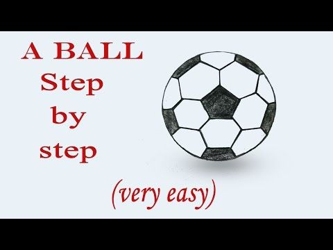 How To Draw A Football Step By Step Very Easy Art Video Youtube In 2020 Easy Drawings Football Drawing Simple Art