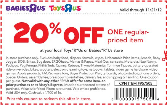 Babies R Us Coupons Kids Toys Coupons Pinterest Printable - coupon disclaimer examples