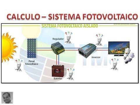 Como Calcular Un Panel Solar Muy Facil Calculo De Paneles Fotovoltaicos Youtube Instalacion De Paneles Solares Calculo De Paneles Solares Energia Solar
