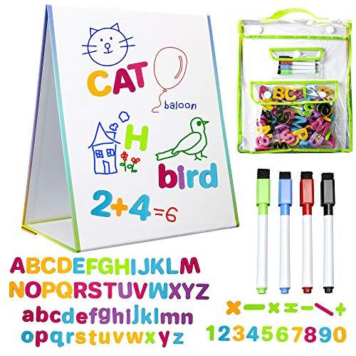 Littlemag Magnetic Easel And Whiteboard For Kids 4 Dry Erase Markers 72 Magnet And Foam Numbers And Letters And Bonus C With Images Dry Erase Markers Dry Erase Playset