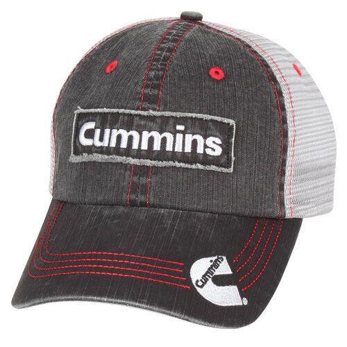Cummins Base Ball Cap hat Diesel Gear Dodge ram Logo Embroidered Gray