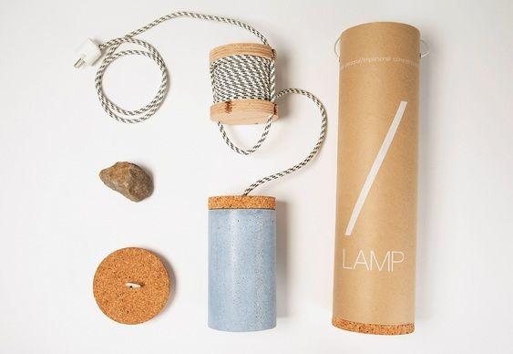 Kit luminária de cimento