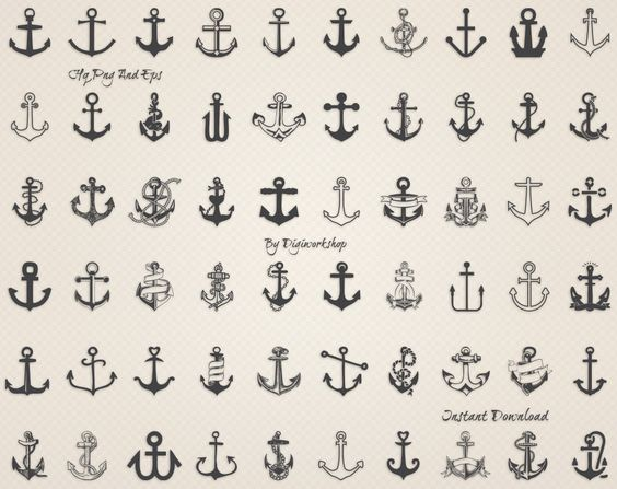 Clipart Anchor: Ancre de mer clipart nautique par DigiWorkshop