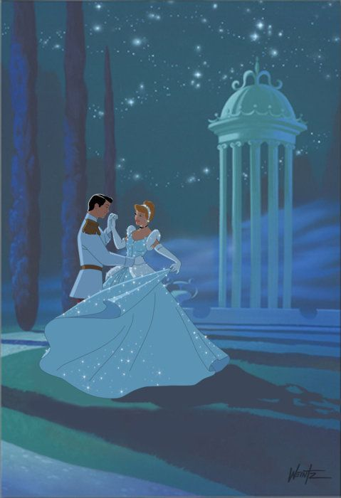 Cinderela e o Príncipe.