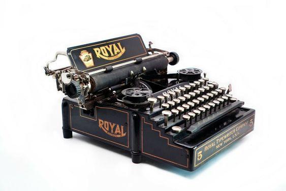 RARE Vintage 1910's Royal No.5 Typewriter #Royal