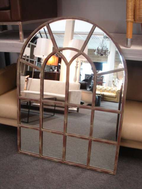 Wall Large Arched Leaded Window Design Mirror Things