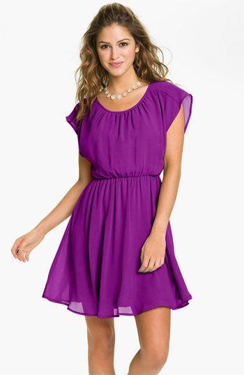 Lush 'Stella' Chiffon Dress