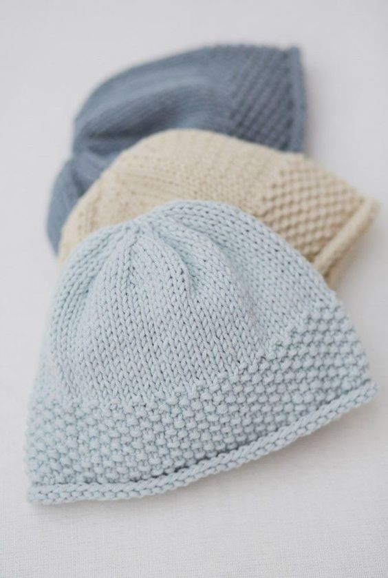 Baby hats, Baby knitting and Stitches on Pinterest