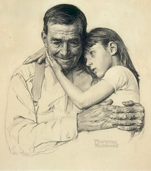 Forsaken  New York Times, December 7, 1952  charcoal on paper, 19 x 16 ½ in. Norman Rockwell  Collection of George Lucas