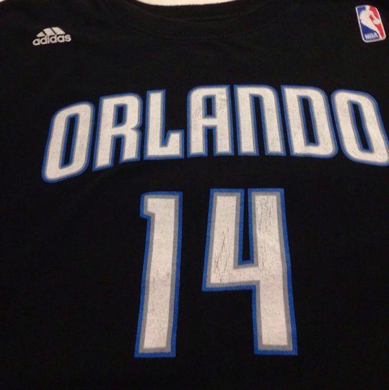Orlando Magic Jameer Nelson Adidas X-Large Short Sleeve Tee T-Shirt XL #OrlandoMagic