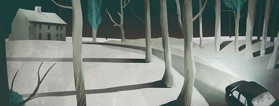 Darren Hopes   Central Illustration Agency #darrenhopes #atmospheric #illustration #environment #landscape #architecture #woods #ominous #digital #layers