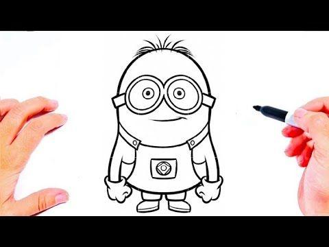 طريقة رسم مينيونز بالخطوات للمبتدئين رسم سهل تعليم الرسم للاطفال رسومات بالرصاص Youtube Art Vault Boy Fictional Characters