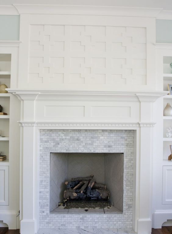Woodwork above Fireplace