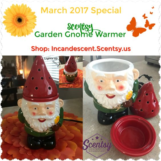 Scentsy Garnden Gnome Warmer March 2017 Scentsy Spring Summer 2017 Catalog And New Products
