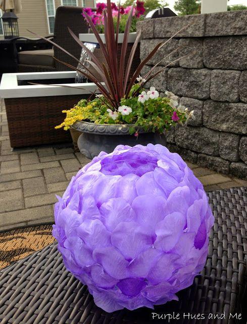 Purple Hues and Me: Lilac Rose Petals Luminary