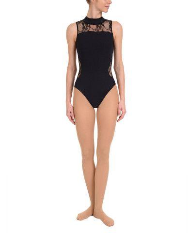 Women's Dance NYCB Mock Turtle Neck Lace Back Leotard : Women's Dancewear LEOTARDS   Danskin