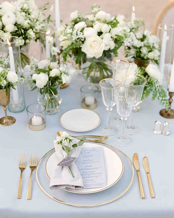 Table Trends For Your Dining Room Wedding Table Settings Gold