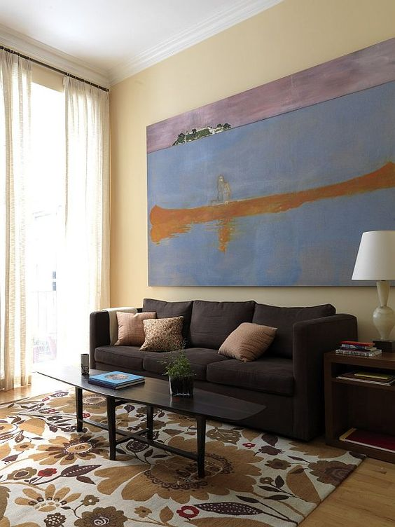 A painting can be too large for a space and overpower the room and everything in it.