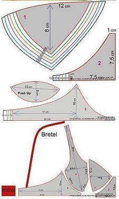 Brasier modelo push up con moldes para todas las tallas - Escuela de costuras