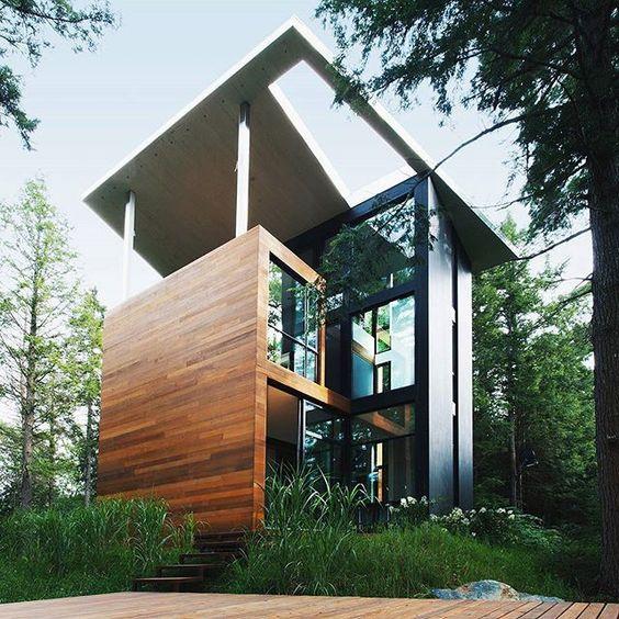 via modernestate allnetwork allofarchitecture la maison du sculpteur by yh2 - Maison Canada