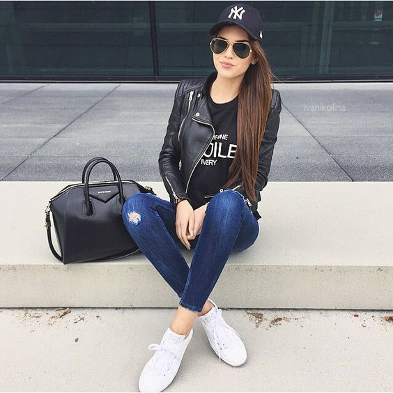 converse blanche gars outfit