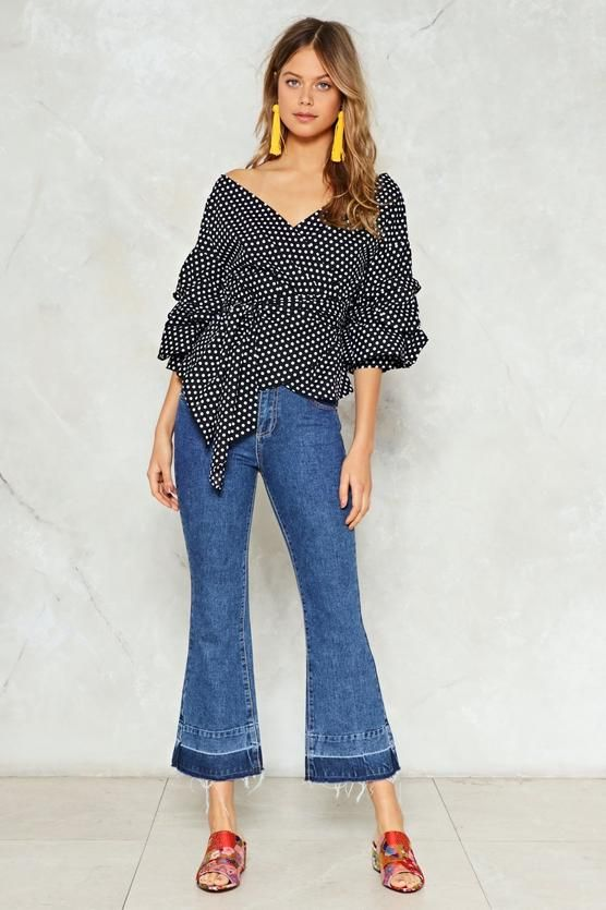 In the Spotlight Wrap Top