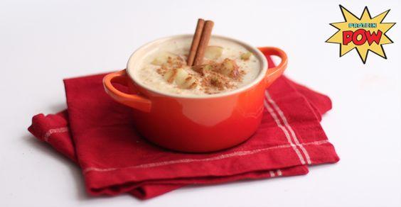 Apple Pie Protein Porridge By Anna Sward of proteinpow.com