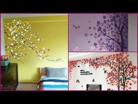 Wall Art Tree Design Ideas Wall Painting Cherry Blossoms Tree Decal Youtube Tree Wall Art Cherry Blossom Tree Tree Decals