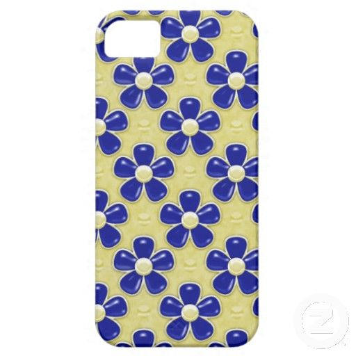 Girly Cute Navy Blue Flowers iPhone 5 Case by Graphic Allusions $44.95