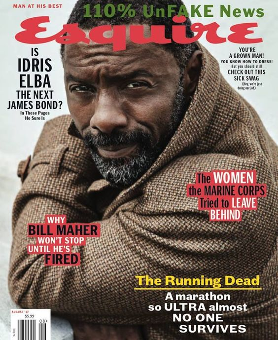 Idris Elba for Esquire US August 2017 | Art8amby's Blog