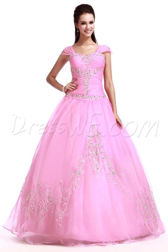 Floor-Length Scoop Sandra's Quinceanera Ball Gown Dress