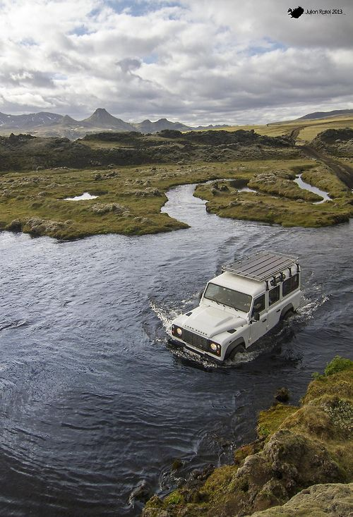 Best way to cross a river in Lakagigar, Iceland. - Georgiana Design
