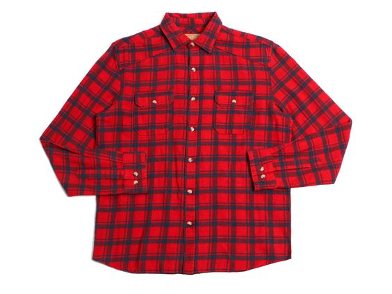 Anaglyph LS Flannel Button Up