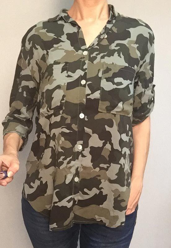 Camisa Camuflaje mujer. Moda Militar