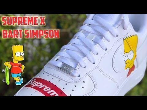 emparedado evitar político  SUPREME x BART SIMPSON AIR FORCE 1's - (very old video) - YouTube   Bart  simpson, Simpson, Air force